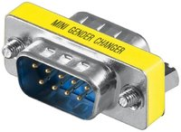 Mini-Gender-Changer 9pol. Stecker / Stecker Metall